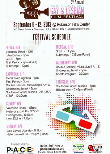 N La Gay & Lesbian Film Fest calendar, Sept 6 - 12, 2013 by trudeau