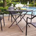 Crosley Palm Harbor Outdoor Wicker Folding Table, Brown