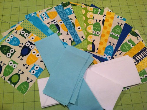 baby quilt cut and ready to be pieced