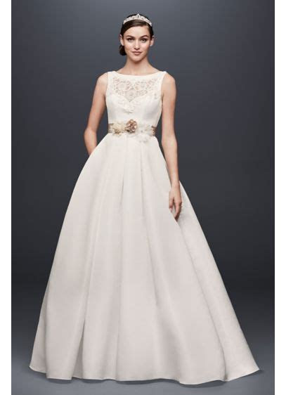 Open Back Wedding Dress with Beading and Pockets   David's