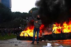 Tirane Albania protest 21 jan