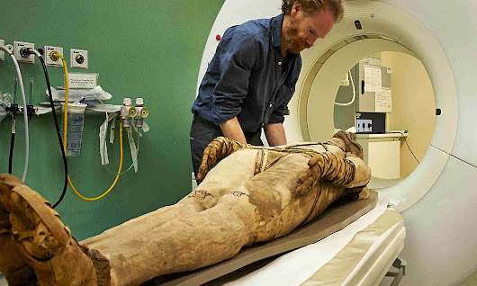 Inside the mummies' embalmed bodies – courtesy of a hospital CT scanner