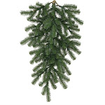"32"" Deluxe Windsor Pine Artificial Christmas Teardrop Swag - Unlit by Christmas Central"