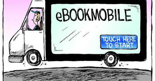 Mystery Fanfare: Cartoon of the Day: eBookMobile | Library Goodness | Pinterest