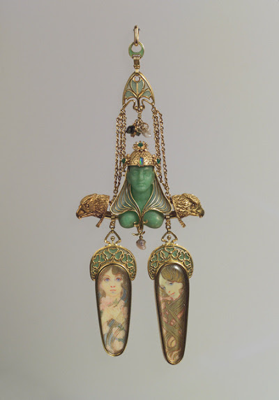 schmami: Brooch designed by Alphonse Mucha, ca. 1900