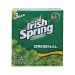 Irish Spring Deodorant Soap, Original - 3 pack, 3.75 oz bars