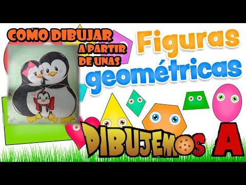 Como Dibujar pingüinos a partir de Figuras Geométricas /How to Draw Penguins from Geometric Figures