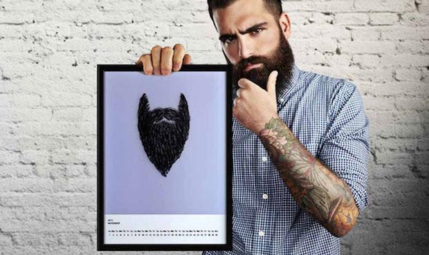 Um calendário para quem quer deixar a barba crescer