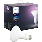 Philips - Hue White & Color Ambiance BR30 Bluetooth Smart LED Bulb - Multicolor