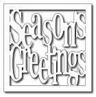 Frantic Stamper Precision Die - Square Season's Greetings