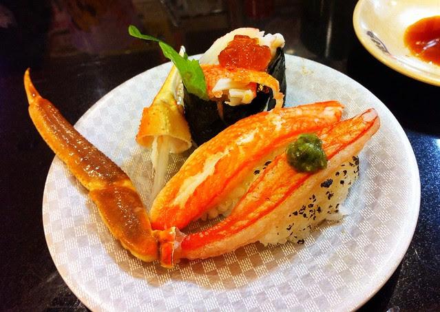 かにづくし Crab sushi trio