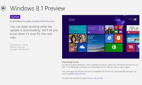 Windows 8.1 PreView, phát hành, cách thức, download, cài đặt