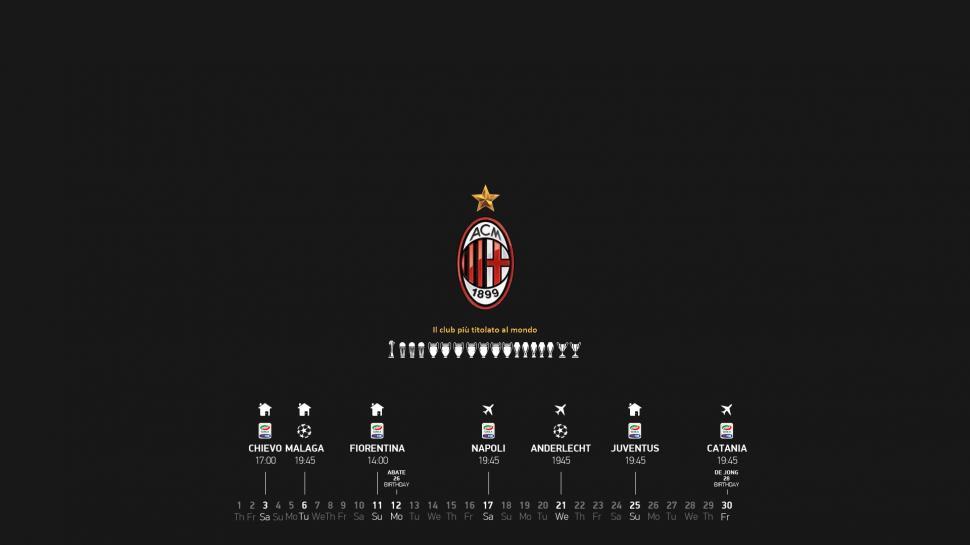 AC Milan Serie A Computer Desktop Background wallpaper  sports  Wallpaper Better