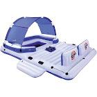 Bestway CoolerZ Tropical Breeze 6-Person Floating Island Pool Lake Raft Lounge, Blue