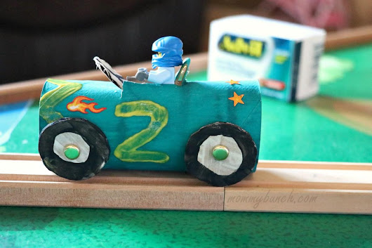 Race Car Crafts For Kids Tutorial - Race Day Fun!