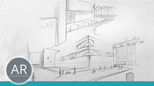 Architektur Skizzen Perspektive Zeichnen Zwei Punkt Mappenkurs