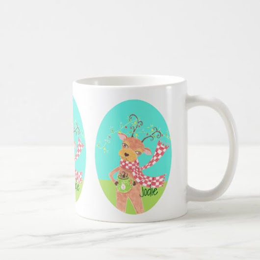 Personalized Holiday mug - Christmas reindeer