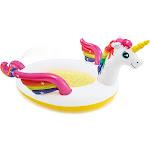 "Intex 57441EP 107 x 76 x 41"" Inflatable Rainbow Mystic Unicorn Spray Kiddie Pool by VM Express"