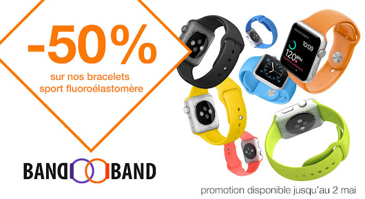 Bracelet Sport Apple Watch – 100% fluoroélastomère avec fermoir à clou