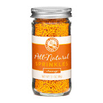 Pepper Creek Farms 300H All Natural Orange Sprinkles - Pack of 12