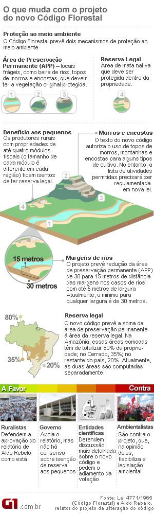 Arte Código Florestal 21h10 28/04 (Foto: Editoria de Arte / G1)
