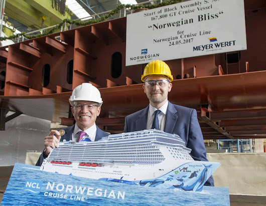 Meyer Werft: a Papenburg la cerimonia di posa della chiglia della Norwegian Bliss | Dream Blog Cruise Magazine