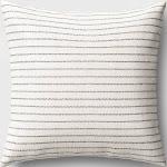 Striped Square Throw Pillow Black/Cream - Threshold
