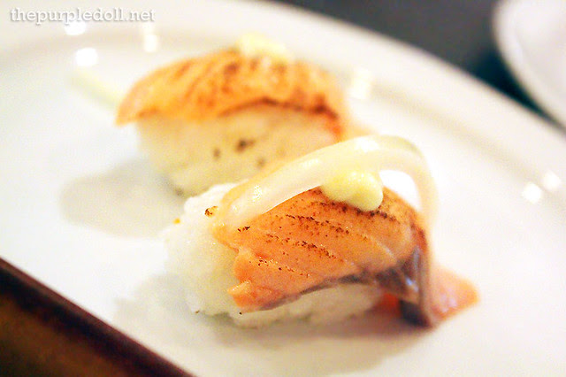 Fatty Salmon Nigiri Sushi