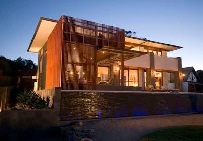 desain rumah minimalis green house