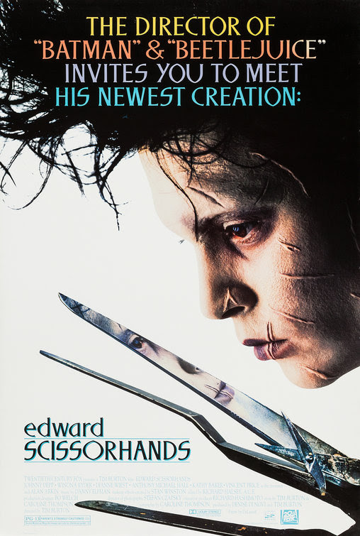 Resultado de imagem para Edward Scissorhands 1990 posters