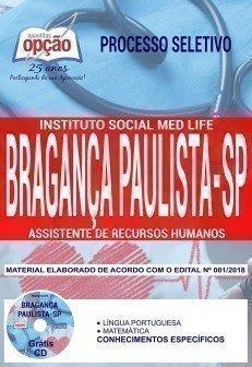 Apostila Processo Seletivo Instituto Social Med Life - Bragança Paulista 2018 | ASSISTENTE DE RECURSOS HUMANOS