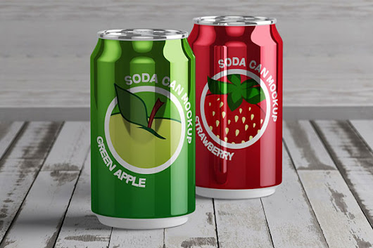 50 Best Free Tin Can Mockup PSD Files for Beverages & Food Preservatives