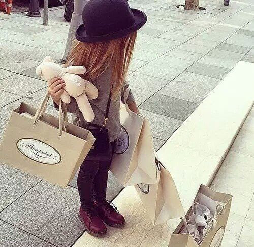child, children, dr martens, fashion, girl, hair, kid, little girl, luxury, ombre, outfit, rich, shopping, tumblr, teddy beat