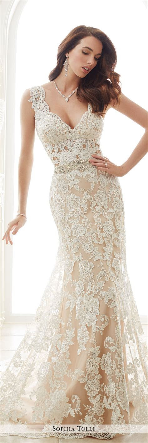 Lace Fit & Flare Wedding Dress with Slight Cap Sleeves