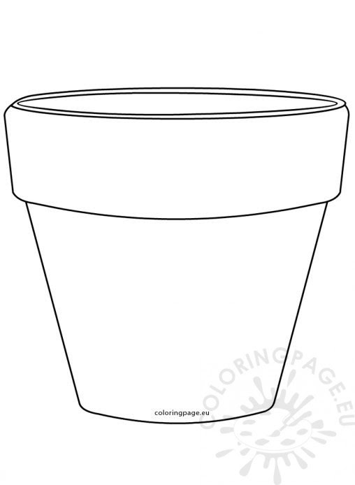 Free Flower Pot Coloring Page