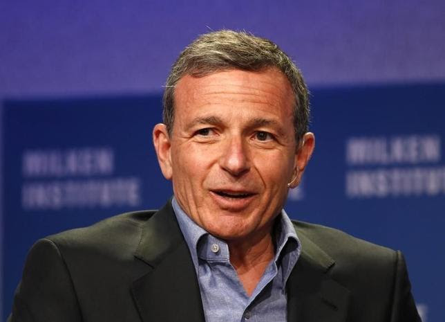 Robert Iger, Chairman and CEO of The Walt Disney Company, speaks at the 2014 Milken Institute Global Conference in Beverly Hills, California April 28, 2014. REUTERS/Lucy Nicholson