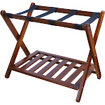 Luggage Rack with Shelf - Walnut - Flora Home, Adult Unisex, Brown