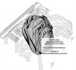 Neapolitan Mastiff Dog Intarsia or Yard Art Woodworking Plan - fee plans from WoodworkersWorkshop® Online Store - Neapolitan Mastiff dogs,pets,animals,dog breeds,intarsia,yard art,painting wood crafts,scrollsawing patterns,drawings,plywood,plywoodworking plans,woodworkers projects,workshop blueprints