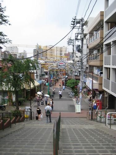 Steps down to Yanaka Ginza