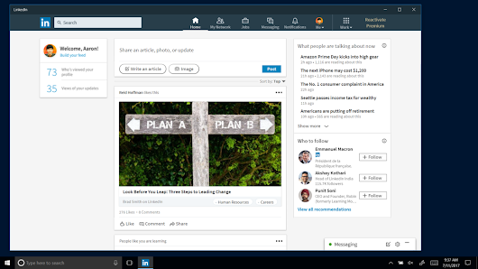 LinkedIn Launches New Windows 10 App For Whatever Reason