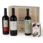 Wines Olive Oil And Chocolate In Wooden Gift Box