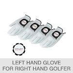 Kirkland Signature Leather Golf Glove 4-Pack with Ball Marker, Medium/Large