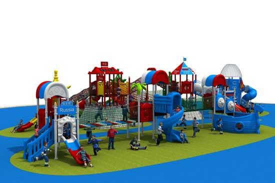 Kiddie outdoor commercial grade playground equipment sale