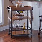 Carbon Loft Wheeler Kitchen/ Wine Cart