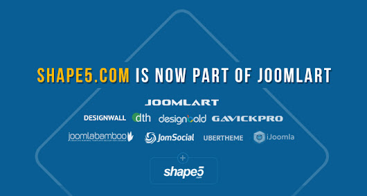 Announcement : Shape5.com is now part of JoomlArt | Joomla Templates and Extensions Provider