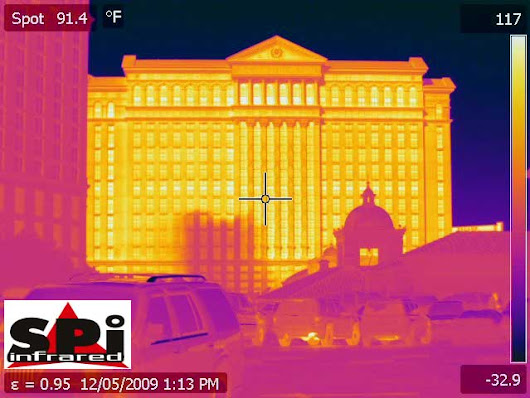 Thermal Images of the Las Vegas Strip | SPI Corp