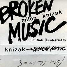 Milan Knížák 'Broken Music' cassette cover