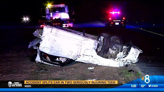 Teen hospitalized after crash on SR-125