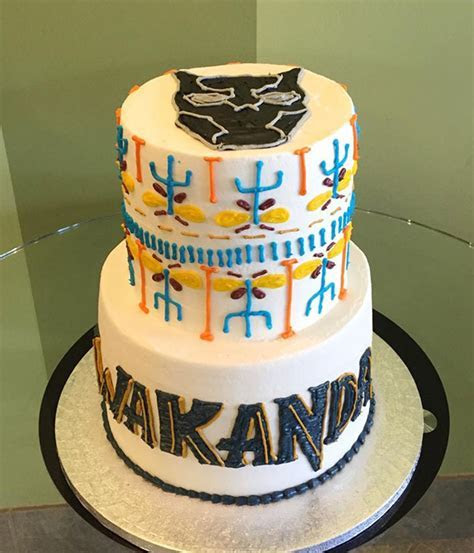 Black Panther Tribal Tiered Cake ? Classy Girl Cupcakes