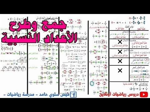 امتحان جمع وطرح الاعداد النسبية اولي اعدادي جبر
